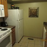 Kitchen was small but well stocked with perfect amenities that were all put to use !!!! Love the