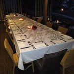 Our Bibesia table at Castaways ready for dinner