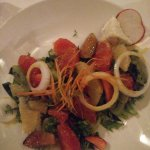 El Faro Seasonal Salad with figs and Pink grapefruit