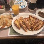 French Toast, Sausage Links and Fried Potatoes
