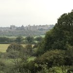 Arundel Castle in the distance viewed from the bedroom.