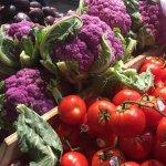 Purple Cauliflower and Vine Ripened Tomatoes