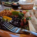 Taco Platter with Black Beans and Rice