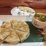 Massaman curry it was love also had Basil garlic Chicken and Pepper Garlic Prawns. Service was g