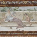 Elaborate mosaic ceiling
