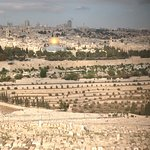 View of the Holy City from The Mount of Olives