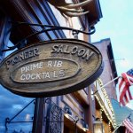 Pioneer Saloon Door Sign