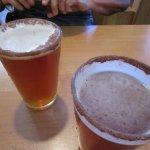 Pumpkin beer with cinnamon sugar on the rim. Scott's recommendation!