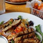 Pizza, tots, and salad