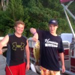 This is my adorable grandsons Agate Lake catching a beautiful bass off of our dock. So love them