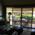 downstairs living space with lovely lanai