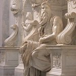 The statue of Moses, Michelangelo, in the church S. Pietro in Vincoli