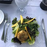 Appetizer, Mango, Salad with warm Goat cheese