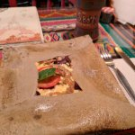 Mushrooms, olives, tomatoes, cheese...yum!