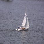 MA - WEBSTER – POINT BREEZE – PASSING SAILBOAT