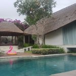 This is the private pool within the villa, master bedroom on the right