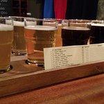 Beer flight at Micro Bar