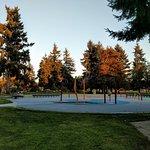 Kids' spray park, Les Gove Park, Auburn, WA.