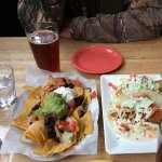 Fish tacos and nachos