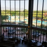 Looking out from lobby area to pool area