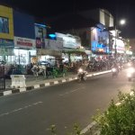 Malioboro Street...night scene in front of the hotel