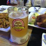 Fried morning glory, beer & pork knuckles