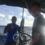 fishing with Luis! This is a barracuda.