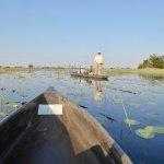 Mokoro safari on lagoon