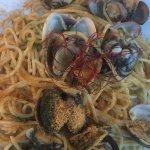 Spaghetti con le vongole e bottarga