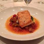 Salmon with caponata