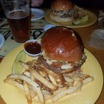 """The best burger on the menu The Big """"O"""""""