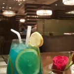 Blue cocktail, my favorite.