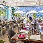Lunch at Miko Restaurant, overlooking the Franschhoek Valley.