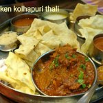 Chicken Kolhapuri Thali