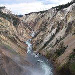 Canyon at the Yellowstone National Park