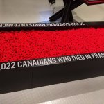 Trough of poppies tells the story of Canadians lost in two wars.