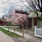 Spring at the DeLancey Stow Insurance Office built 1825, interpreted 1870s, Clyde, N.Y.
