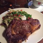 Rib steak: the most uninspiring dish either of us have eaten in France