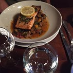 Salmon: a good dish, but pretty American in taste - not what we expected from a famous Lyon bouc