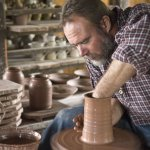 The pottery shop is a favorite stop for visitors.