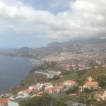 View from pool deck across Funchal