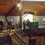 Touring the vat area