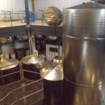 Large stainless vats