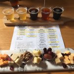 Cheese tasting with beer flight