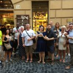 Delicious pizza and Italian beer, second stop after the Jewish Ghetto!