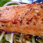 Salmon Salad - Cooked perfectly.  Super Fresh salad