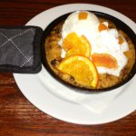 Hot oatmeal/cranberry/orange cookie ala mode