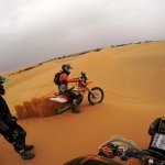 Riding KTM450 in the dunes of Merzouga (2)