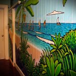 BEAUTIFUL wall murals in the upstairs bedroom area :)