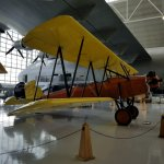 One of the beautifully restored planes in the hanger